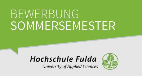 Bewerbung zum Sommersemester an der Hochschule Fulda