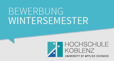 Bewerbung zum Wintersemester an der Hochschule Koblenz